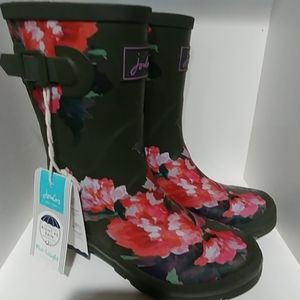 Joules Molly Welly Green Lake rose size 7